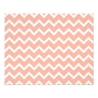 Coral and White Zig Zag Pattern. Flyer