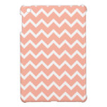 Coral and White Zig Zag Pattern. iPad Mini Covers
