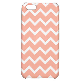 Coral and White Zig Zag Pattern. Case For iPhone 5C