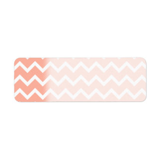 Coral and White Zig Zag Pattern. Return Address Label