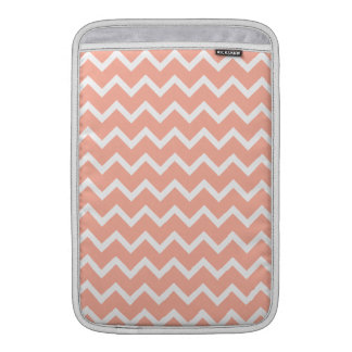 Coral and White Zig Zag Pattern. Sleeve For MacBook Air