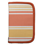 Coral and Yellow Modern Stripes Folio Planner