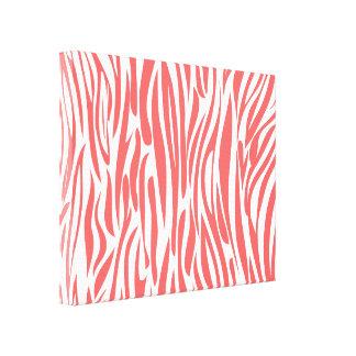 Coral Animal print. Canvas Print