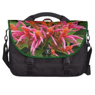 Coral Aphelandra Laptop Bag