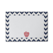 Coral Apple Navy Chevron Teacher Post-it® Notes