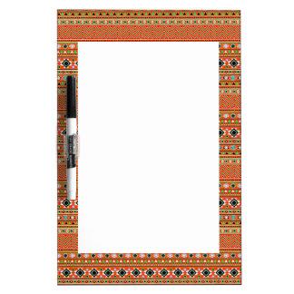 Coral Aztec Style Southwestern Pattern Dry-Erase Board