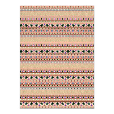 Coral Aztec Tribal Pattern Card