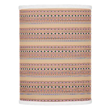 Coral Aztec Tribal Pattern Lamp Shade