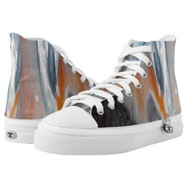 Beach Themed Coral Beach Abstract High Top Shoes