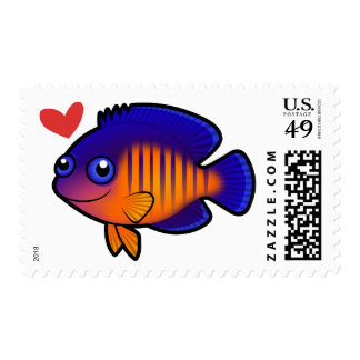 Coral Beauty Love Postage Stamp