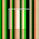 [ Thumbnail: Coral, Beige, Lime & Black Colored Stripes Fabric ]