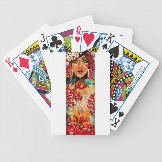 Coral Bicycle Playing Cards