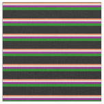 [ Thumbnail: Coral, Bisque, Purple, Green & Black Colored Fabric ]