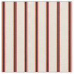 [ Thumbnail: Coral, Black, Brown & Bisque Pattern of Stripes Fabric ]