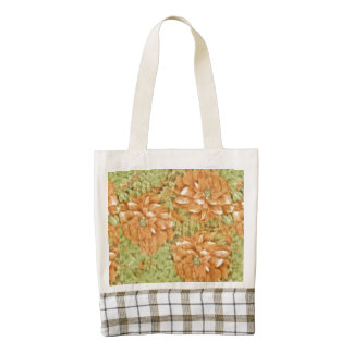 Coral Blooms Zazzle HEART Tote Bag