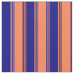 [ Thumbnail: Coral & Blue Colored Pattern Fabric ]