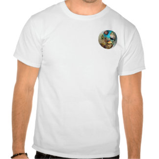 Coral Blue Oval Pocket T-shirt
