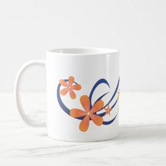 Coral Blue Tropical Design Mug