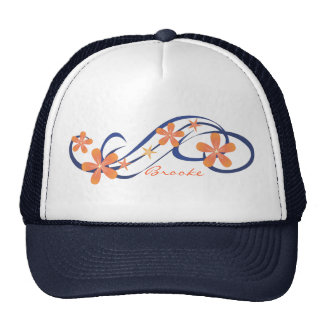 Coral Blue Tropical Trucker Hat