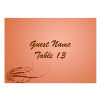 Coral Breeze Spring Wedding Table Number Card Large Business Card