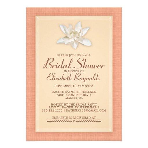 Coral Bridal Shower Invitations Invitations