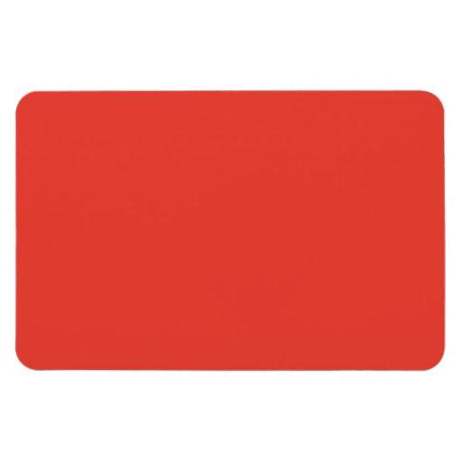 Coral Bright Red Orange Solid Color Background Rectangular