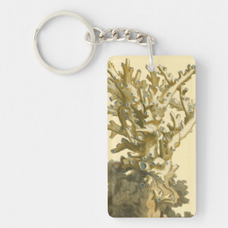 Coral by the Sea Keychain