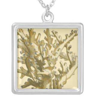 Coral by the Sea Silver Plated Necklace