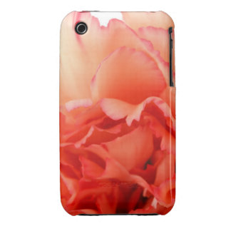 Coral Carnation Flower Bloom iPhone 3 Covers