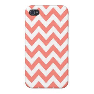 Coral Chevron iPhone 4/4S case