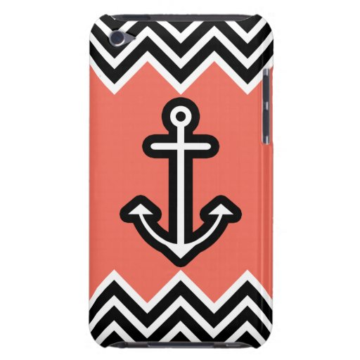 Coral Chevron Nautical iPod Touch Covers