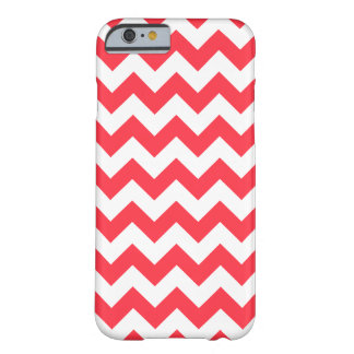 Coral Chevron Pattern iPhone 6 Case