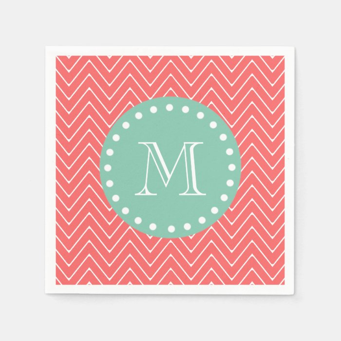 mint chevron patterns coral - photo #23