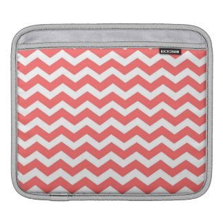 Coral Chevron Sleeve For iPads