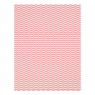 Coral Chevron/Zig Zag Scrapbook Paper