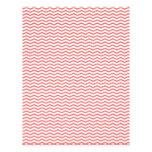 """Coral Chevron/Zig Zag Scrapbook Paper 8.5"""" X 11"""" Flyer"""