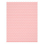 Coral Chevron/Zig Zag Scrapbook Paper Flyer Design