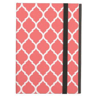 Coral Chic Moroccan Lattice Pattern iPad Air Cover