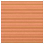 [ Thumbnail: Coral & Chocolate Lines/Stripes Pattern Fabric ]