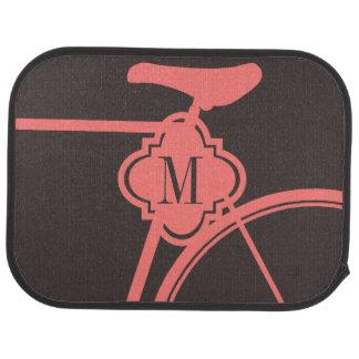 Coral chocolate sporty Bicycle monogram car mats Car Mat