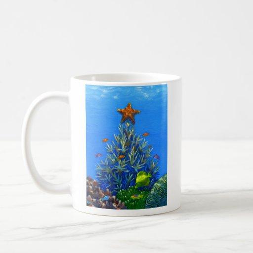 Coral Christmas Tree mug