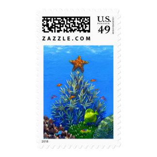 Coral Christmas Tree postage stamp