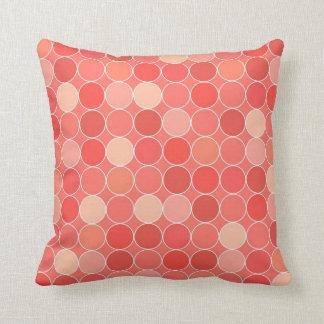Coral Circles Pattern Decorative Pillow