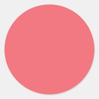 Coral Classic Round Sticker