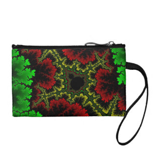 Coral Collage Coin Wallets