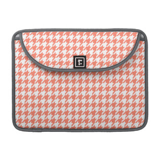 Coral Color Houndstooth Sleeve For MacBook Pro