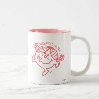 Coral Colored Little Miss Sunshine Two-Tone Coffee Mug
