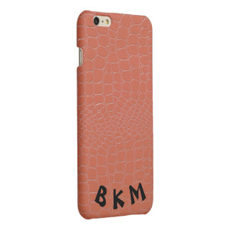 Coral Colored Snakeskin Repile Print Matte iPhone 6 Plus Case