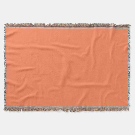 Coral-Colored Throw Blanket