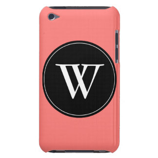 Coral Coral Monogram Template iPod Case-Mate Case